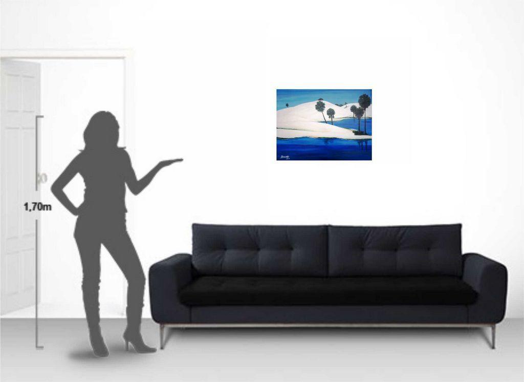 Tela artística em acrílico medindo 60 x 80 cm