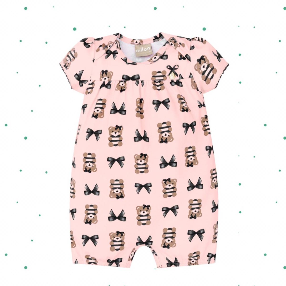 Banho de Sol Bebê Menina Milon em Cotton cor Rosa