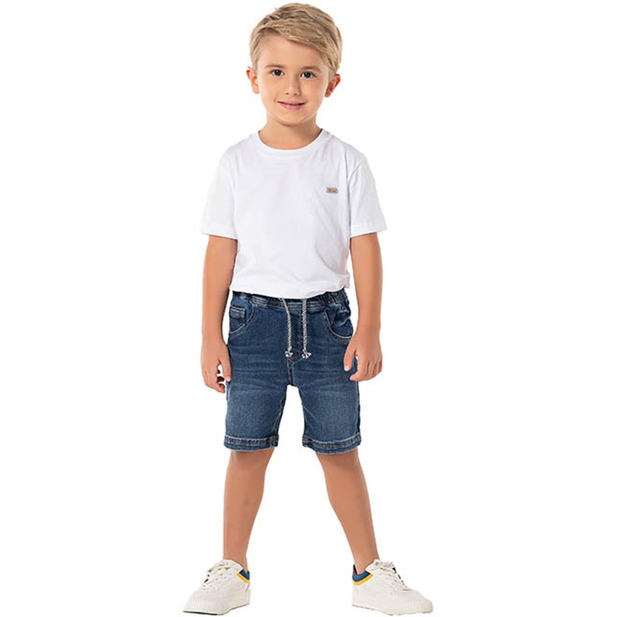 Bermuda Jeans Jogger Menino - Mania Kids