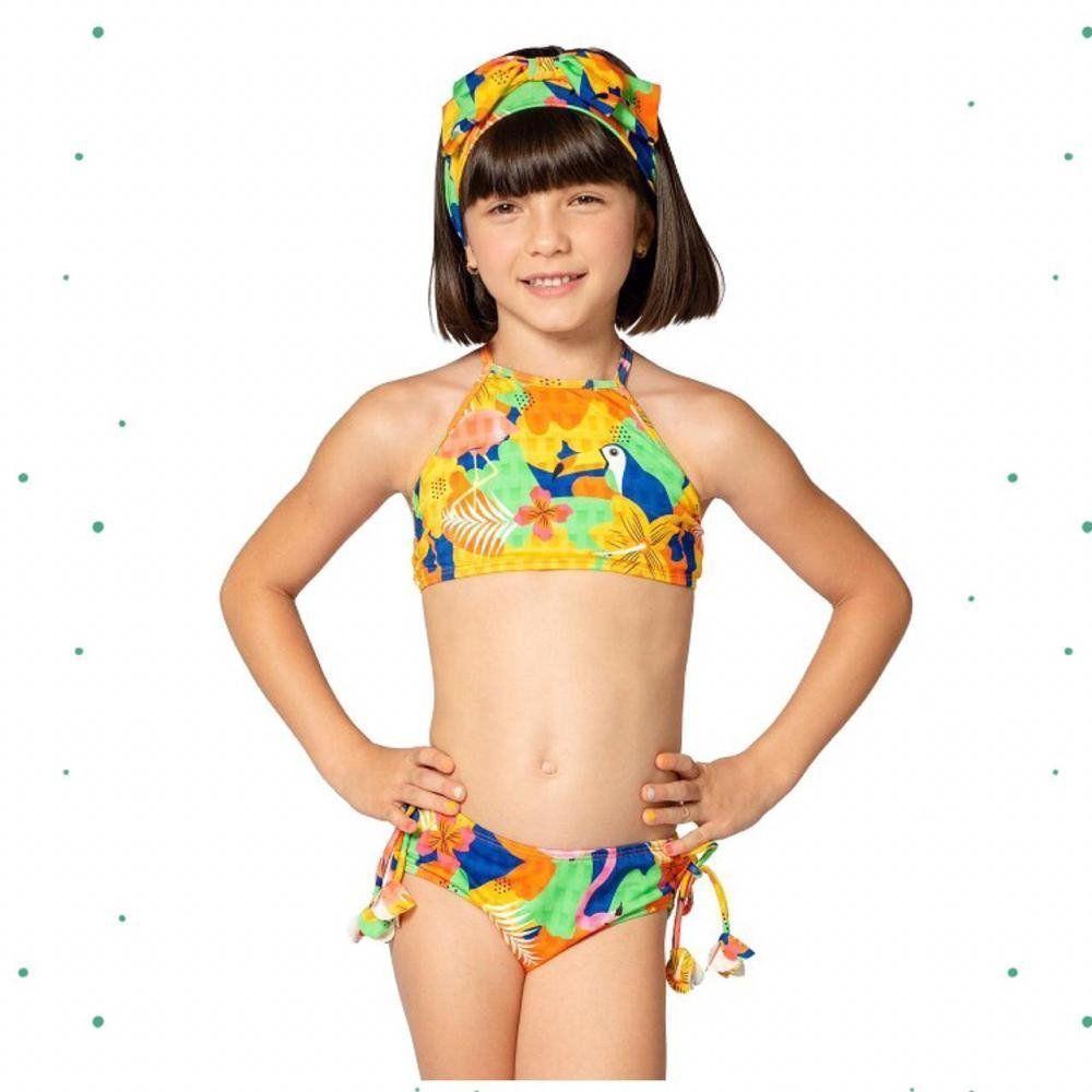 Biquíni Cropped Magah Beach Wear Camila Tropical