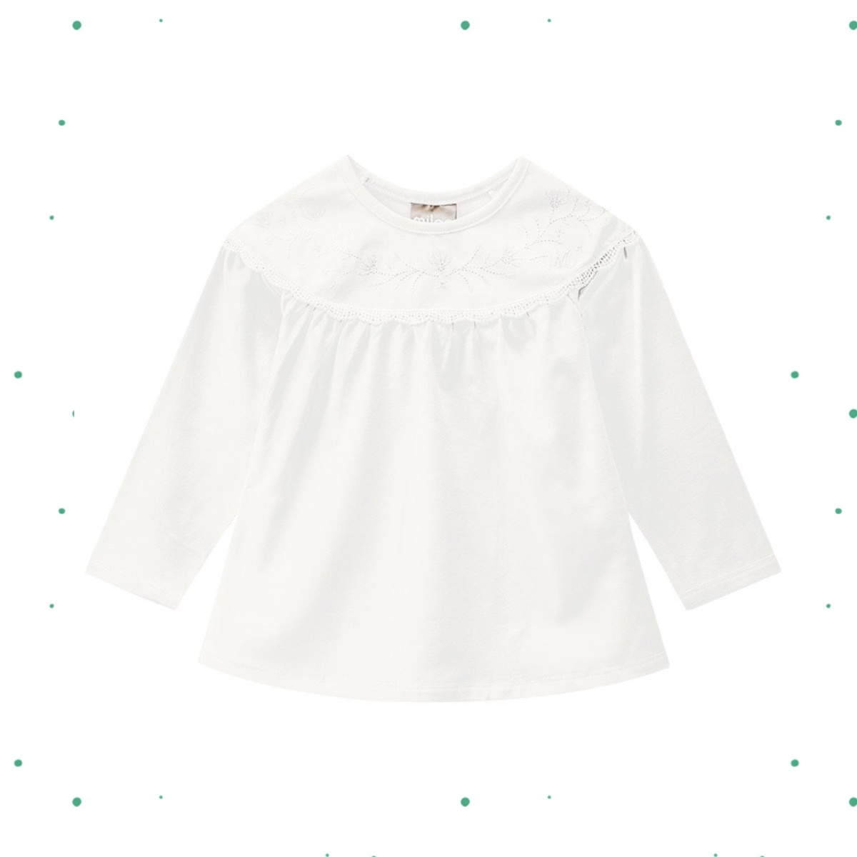Blusa Menina Milon em Cotton cor Off White