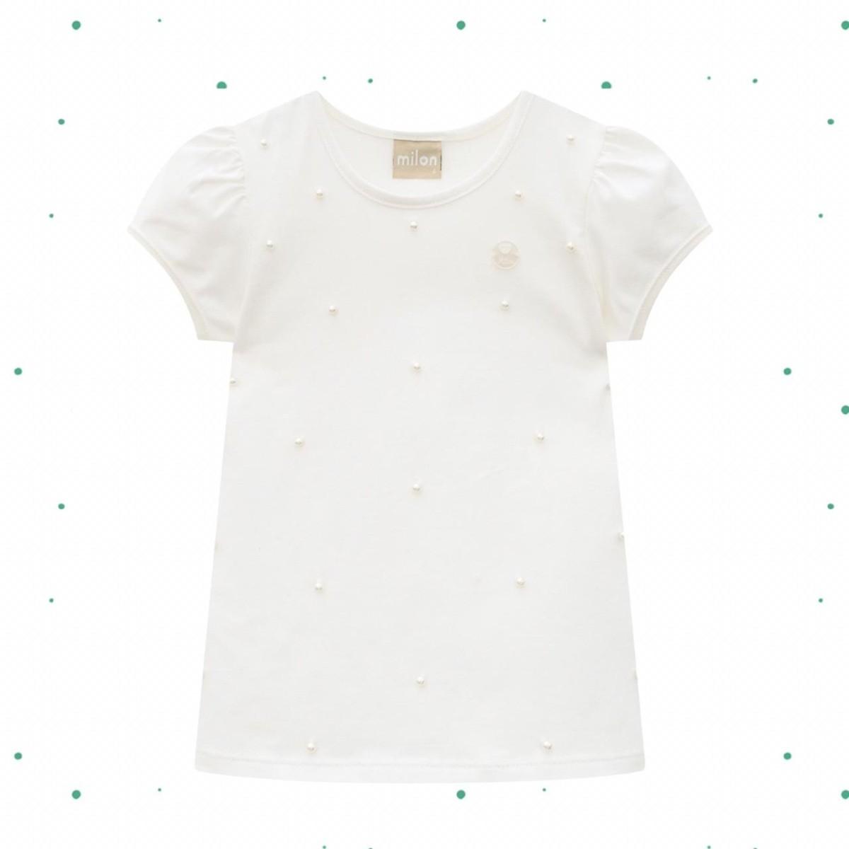 Blusa Menina Milon em Cotton Off White
