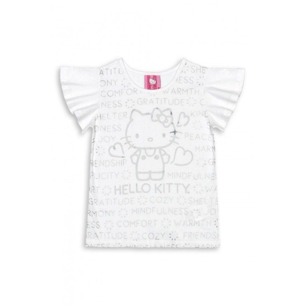 Blusinha Feminina Hello Kitty Manga Curta 100% Algodão