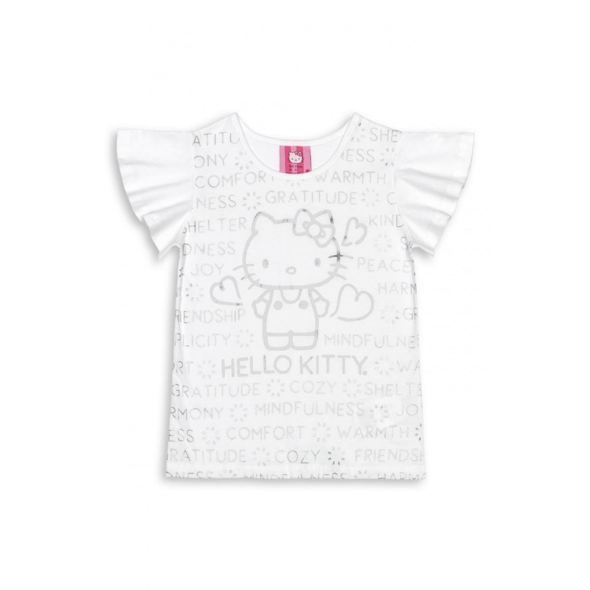 Blusinha Menina Hello Kitty em Algodão Estampada