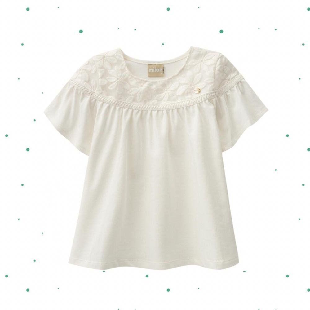 Blusinha Menina Milon em Cotton