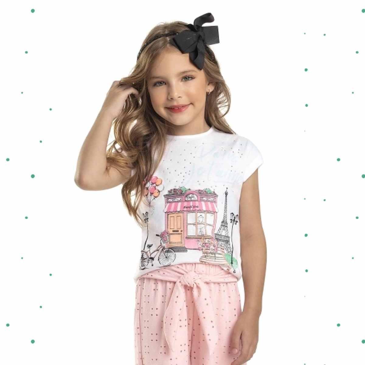 Blusinha Menina Quimby em Algodão Estampada8320-101