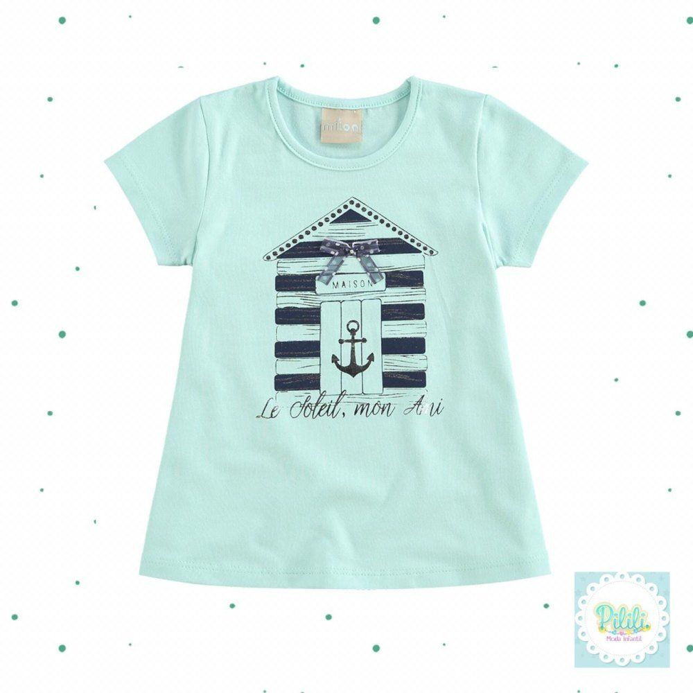 Blusinha Milon Infantil Feminina em Cotton na cor Verde