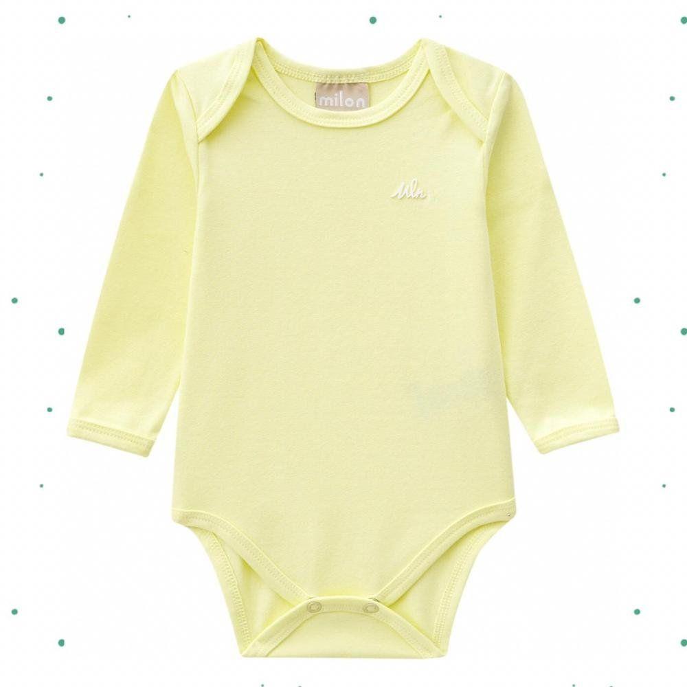 Body Bebê Masculino Milon emAlgodão com Fechamento por Botões de Pressão
