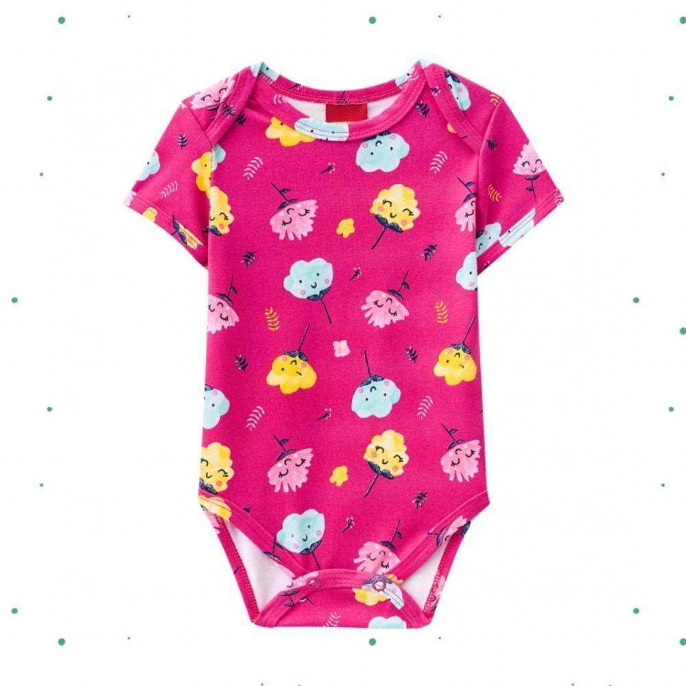 Body Bebê Menina Kyly em Cotton Estampado