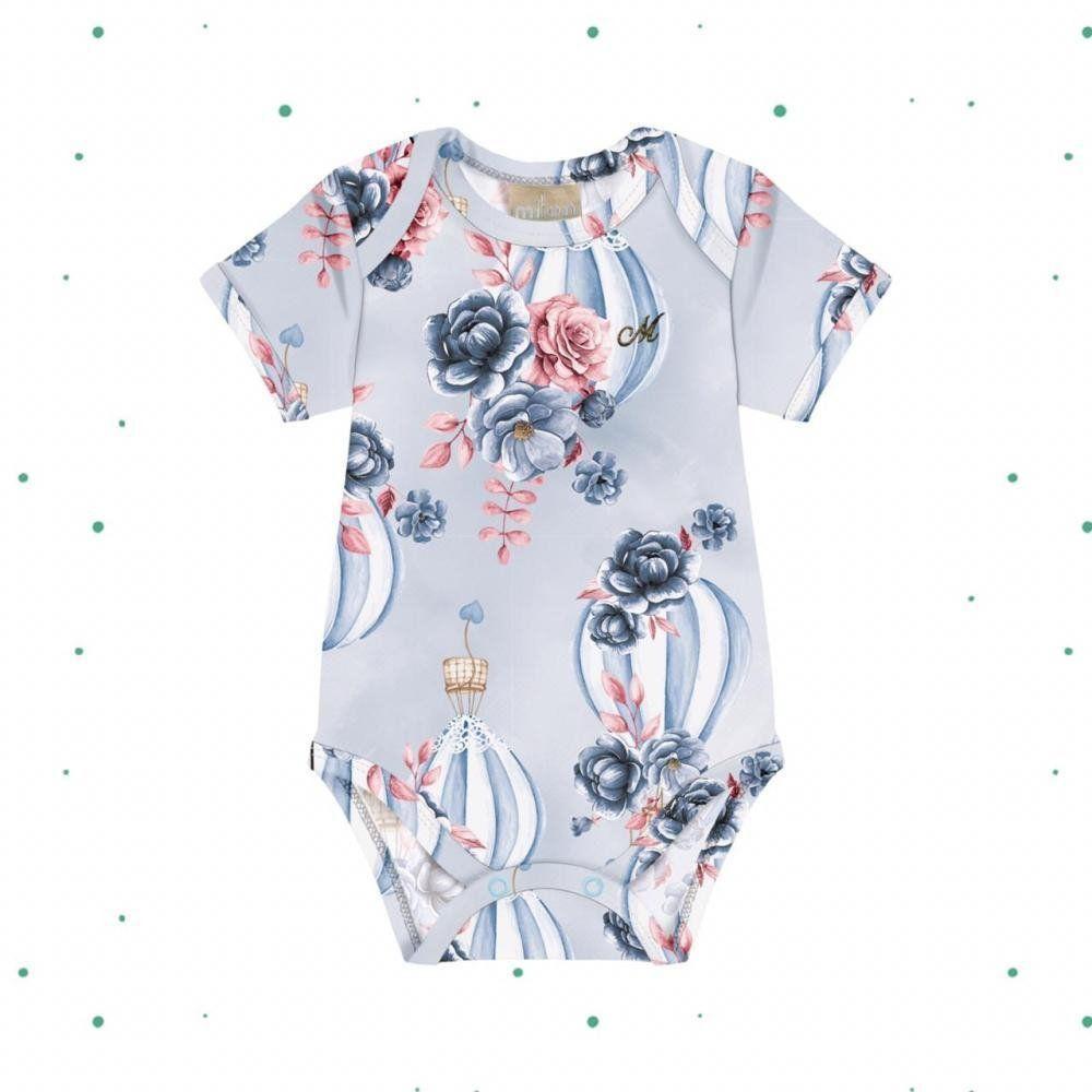 Body Bebê Menina Milon em Cotton na cor Azul