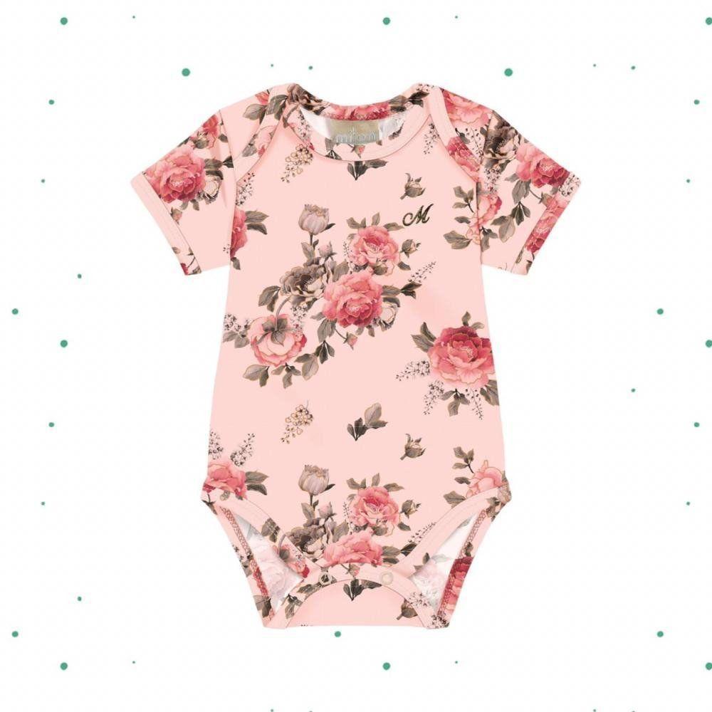 Body Bebê Menina Milon em Cotton na cor Rosa