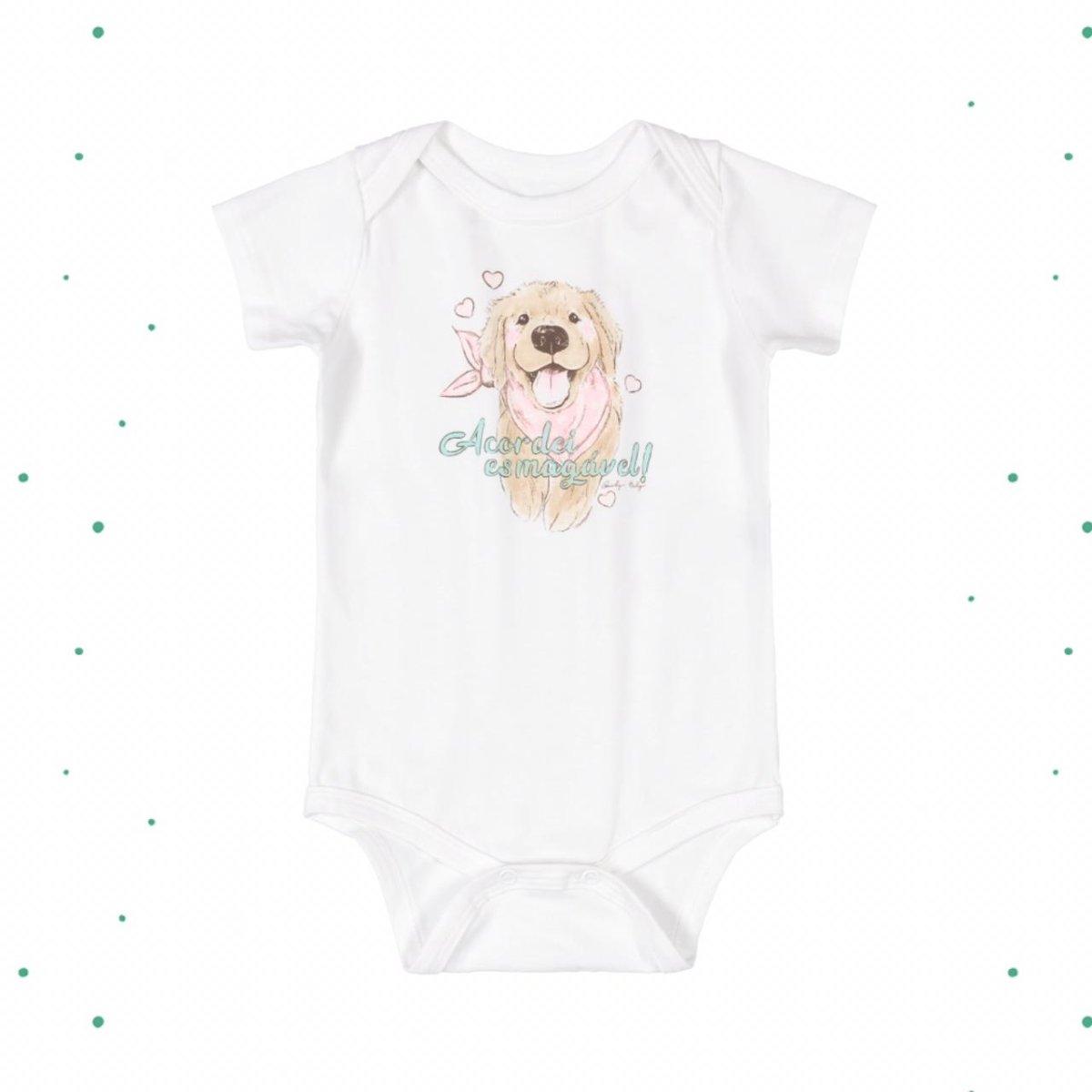 Body Bebê Menina Quimby em Cotton Estampado