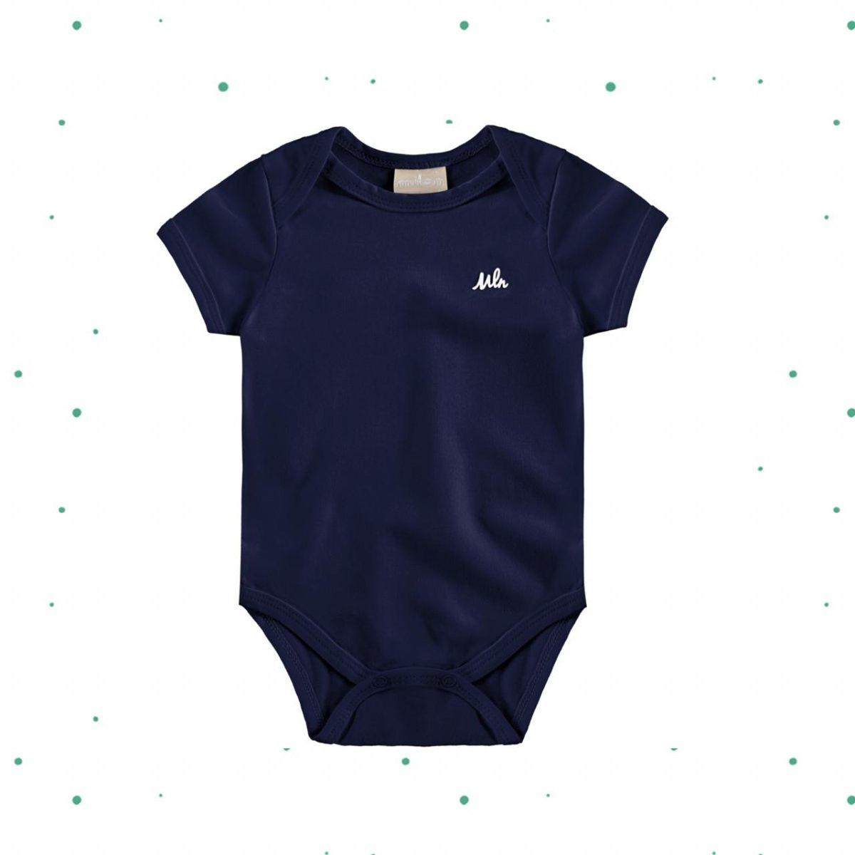 Body Bebê Menino Manga Curta Milon  em Cotton
