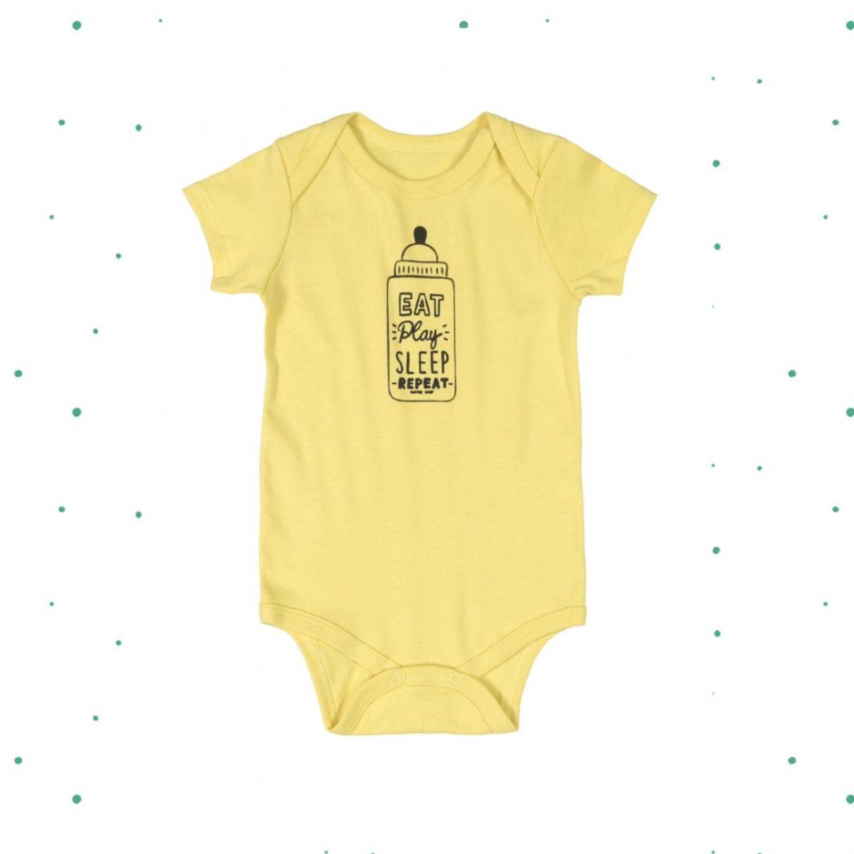 Body Bebê Menino Quimby em Ribana Estampado