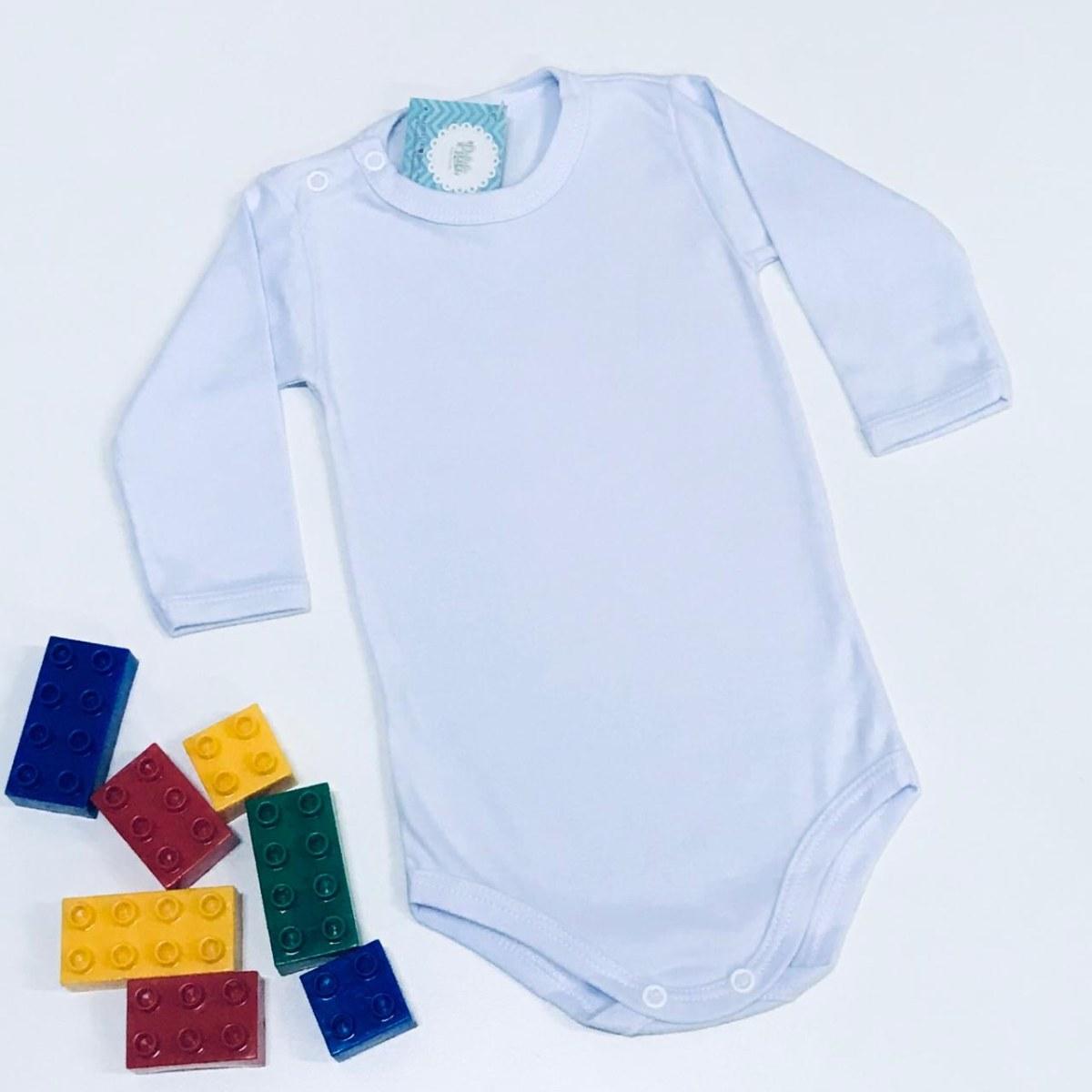 Body Bebê Odicon Manga Longa em Suedine Branco
