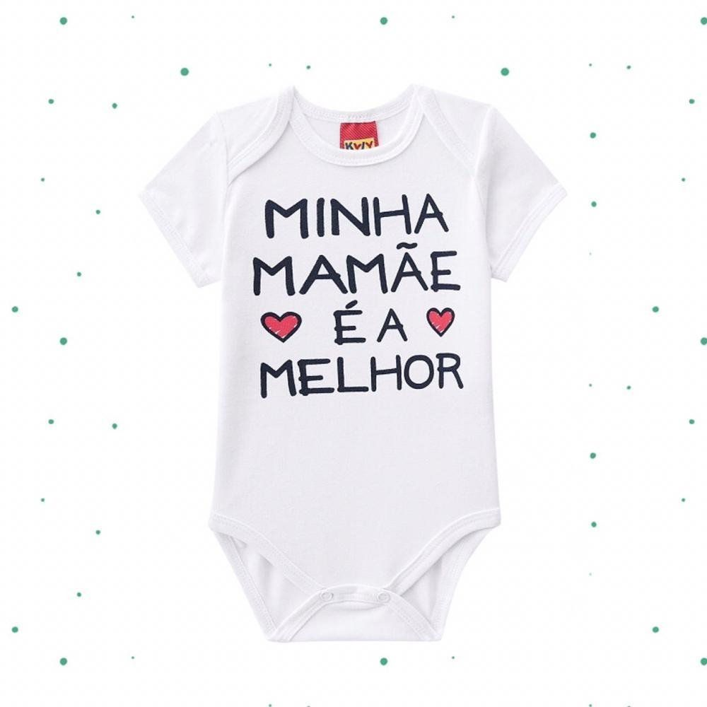 Body Bebê Unissex em Cotton Mamãe