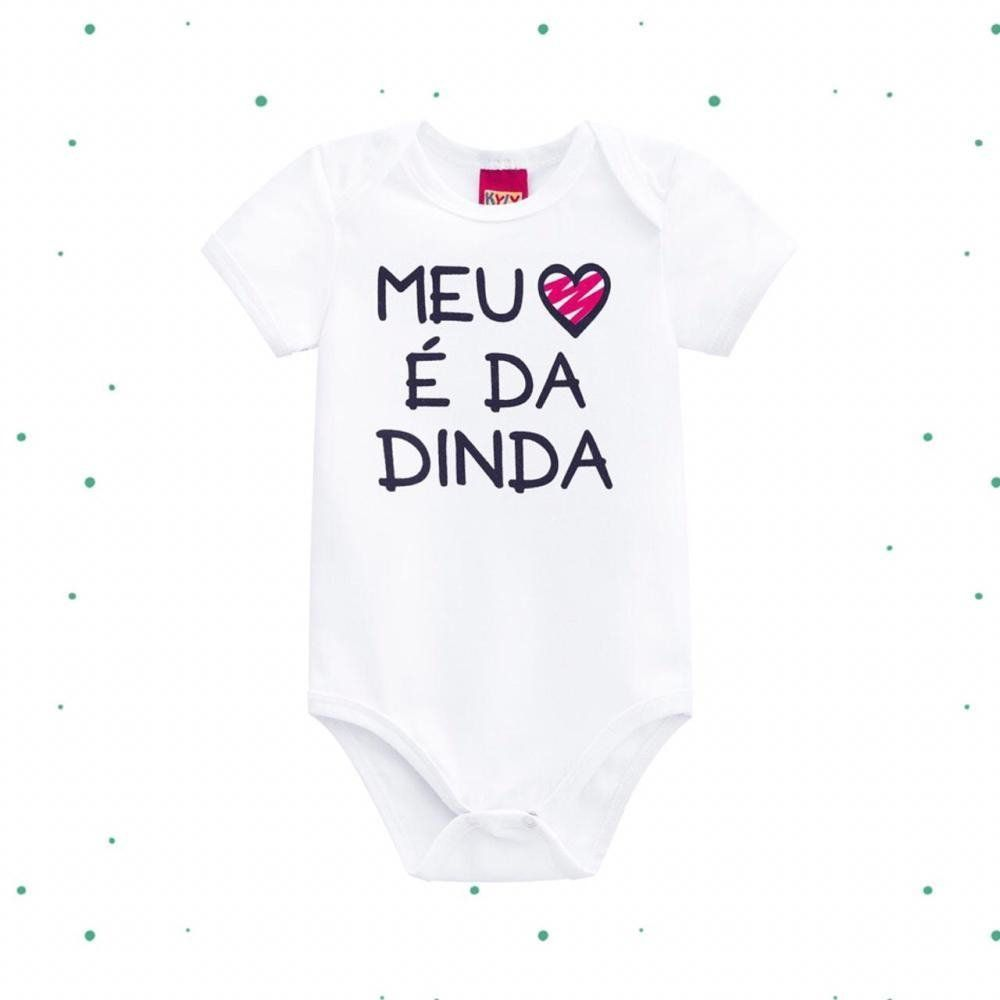Body Bebê Unissex Kyly em Cotton Dinda