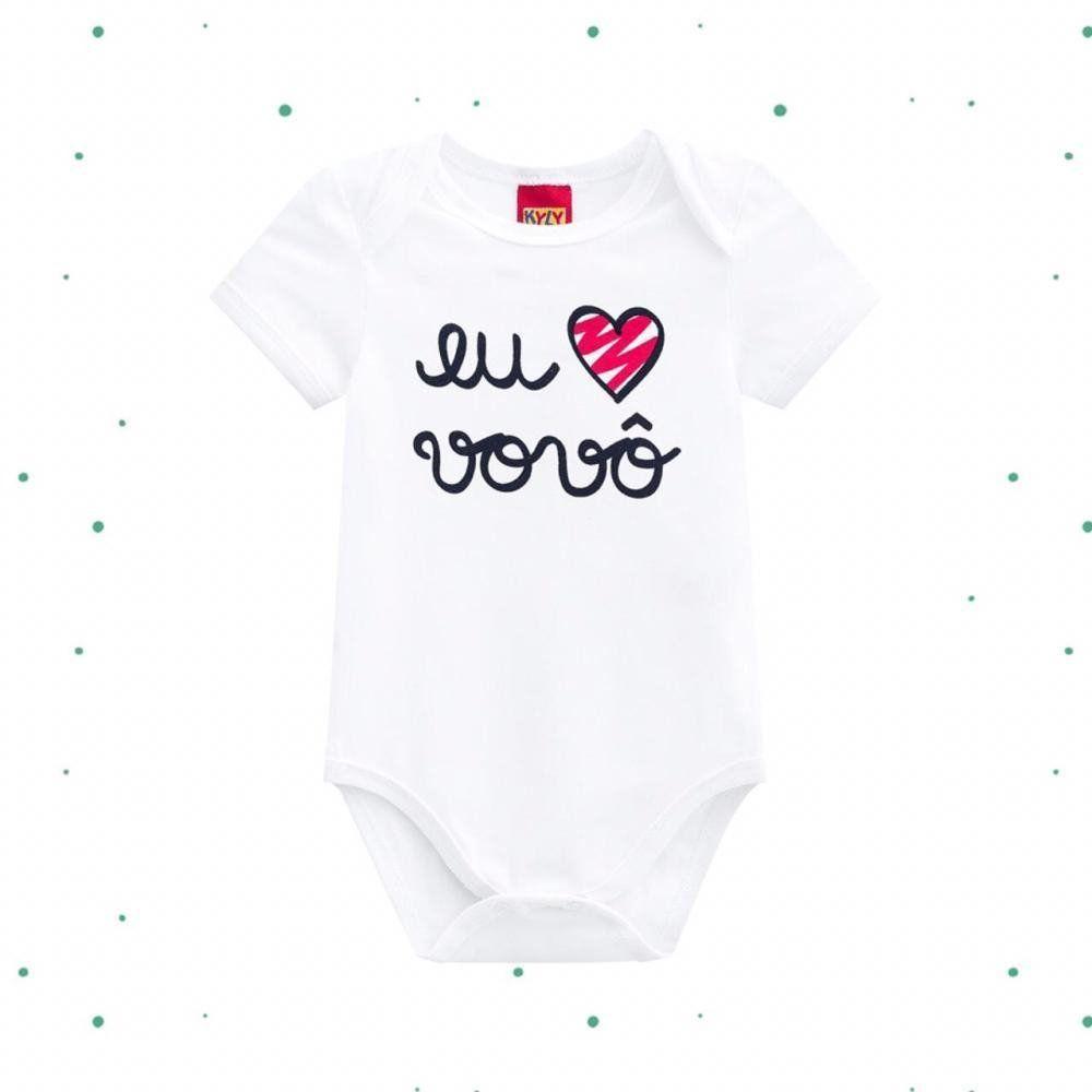 Body Bebê Unissex Kyly em Cotton Vovô