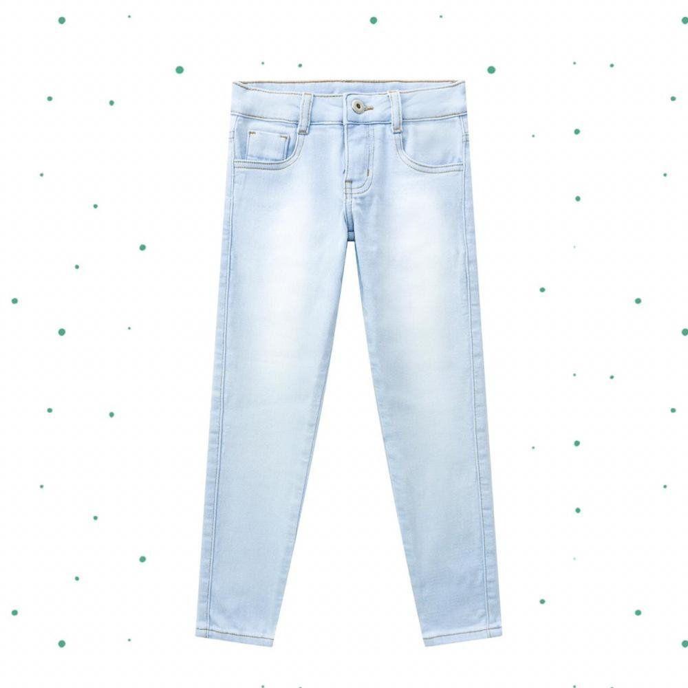 Calça Infantil Feminina Milon em Malha Jeans