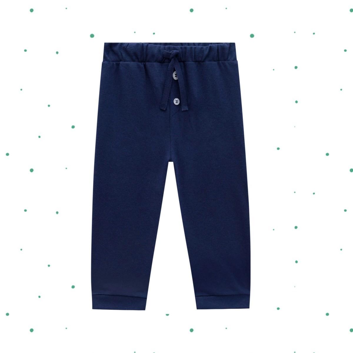 Calça Menino Lucboo em Suedine cor Azul Marinho