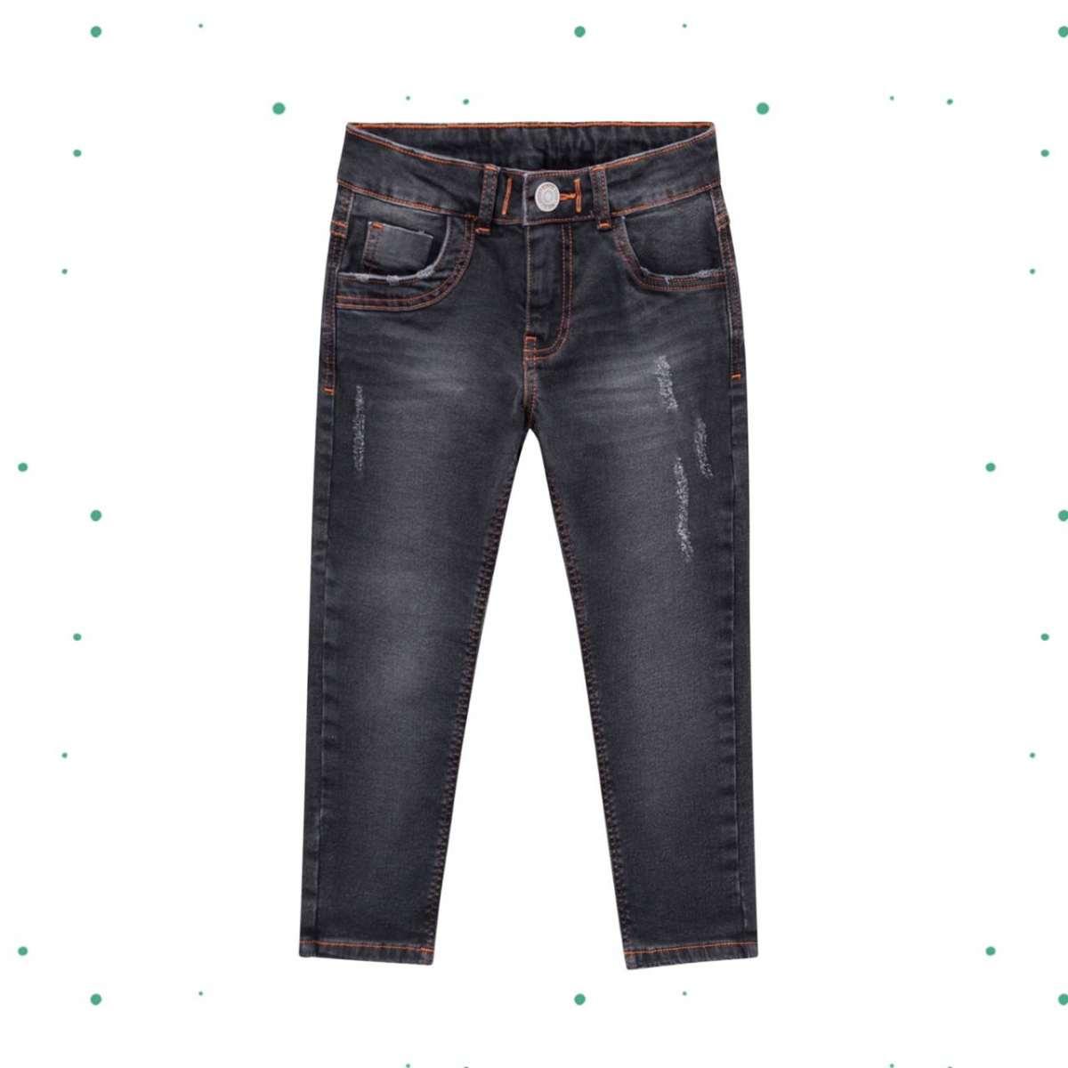 Calça Menino Milon em Jeans com Elastano