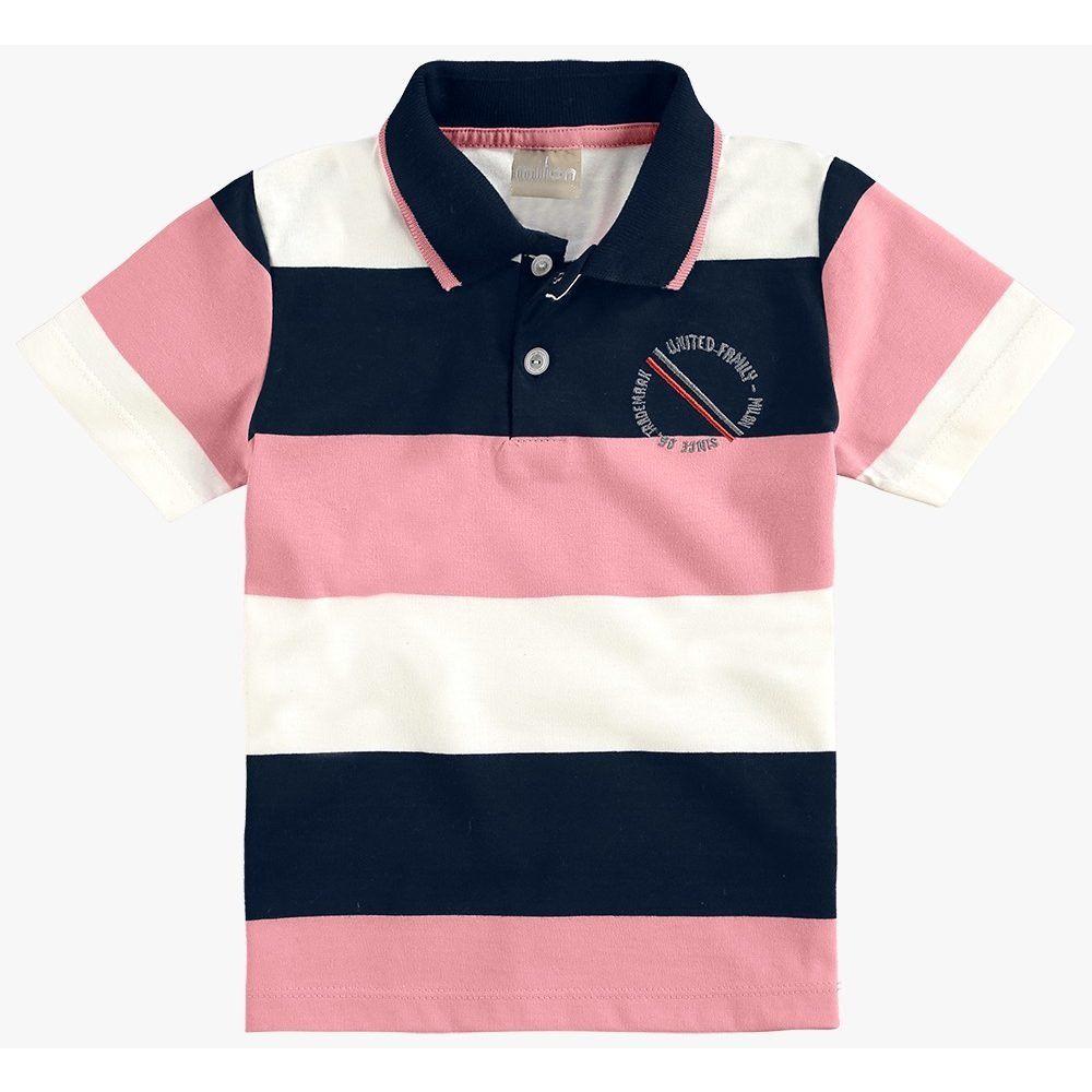Camisa Polo Infantil Masculina Milon Meia Malha