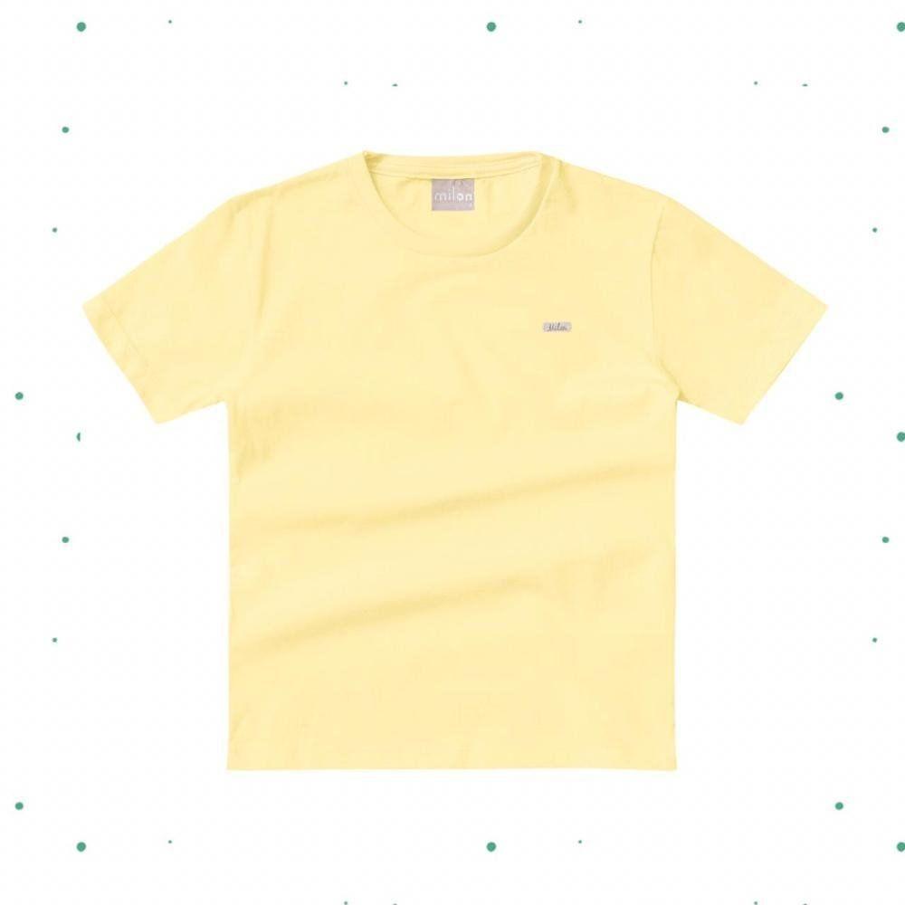 Camiseta Bebê Menino Milon em Algodão Amarela