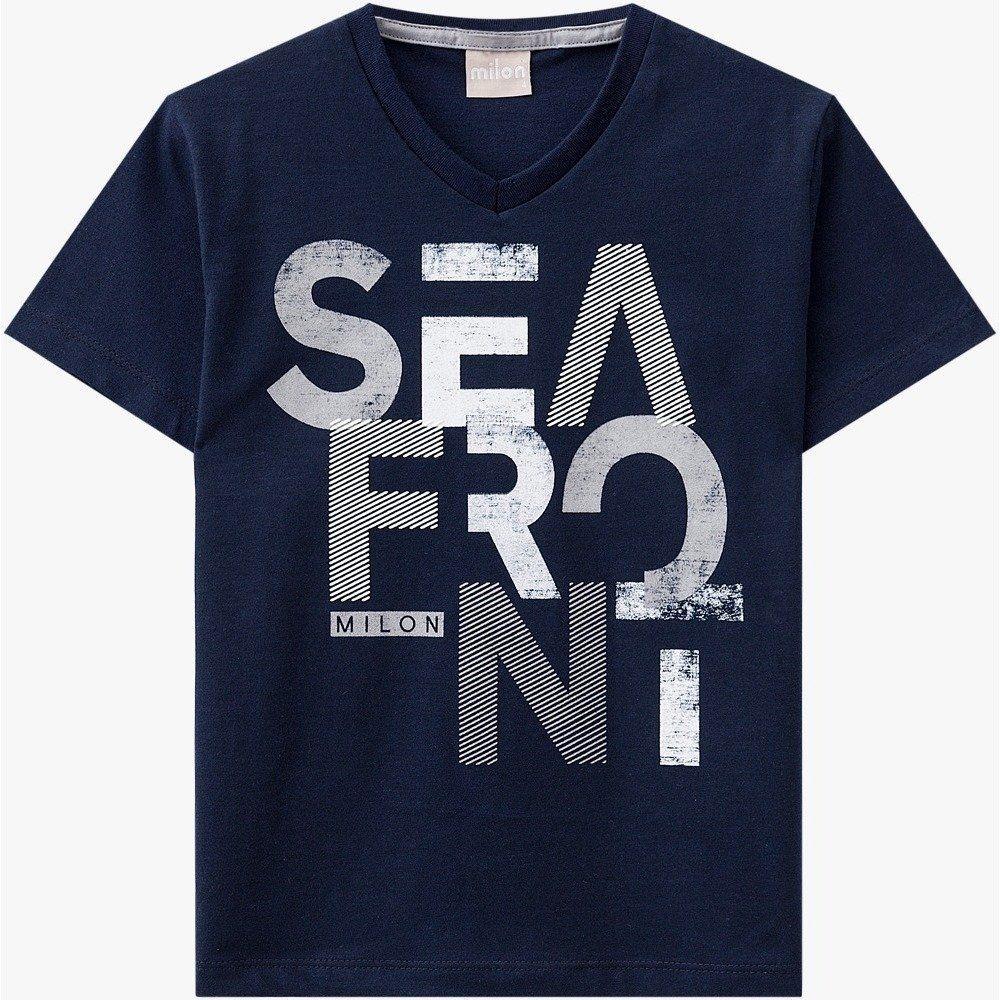 Camiseta Infantil Masculina Milon Manga Curta em 100% Algodão Estampada