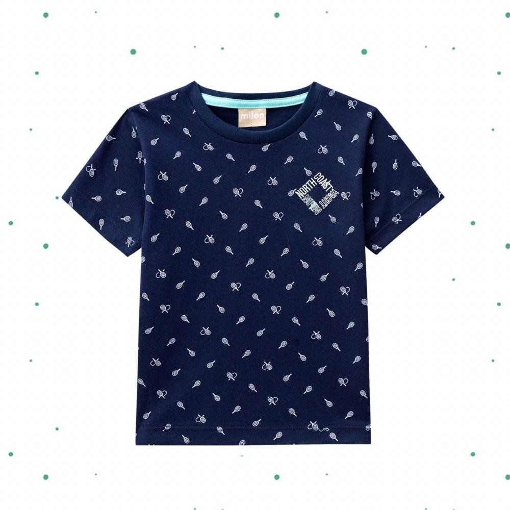 Camiseta Infantil Masculina Milon na cor Azul Marinho Dia dos Pais