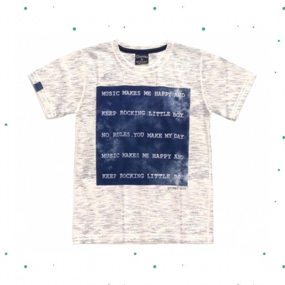 Camiseta Infantil Masculina Quimby Manga Curta em 100% Algodão