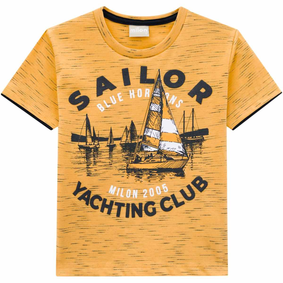 Camiseta Infantil Menino Milon - Amarelo Queimado