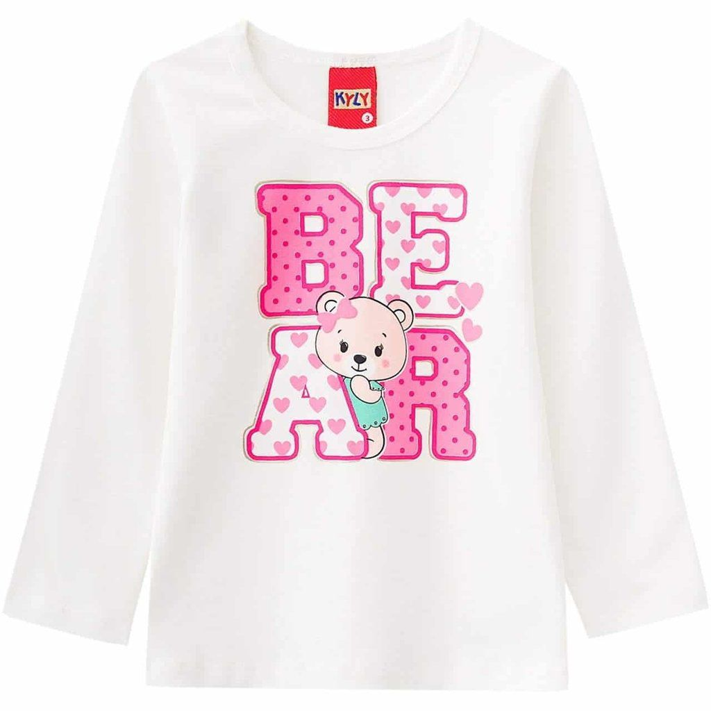 Camiseta Kyly em Cotton estampa na cor Off White