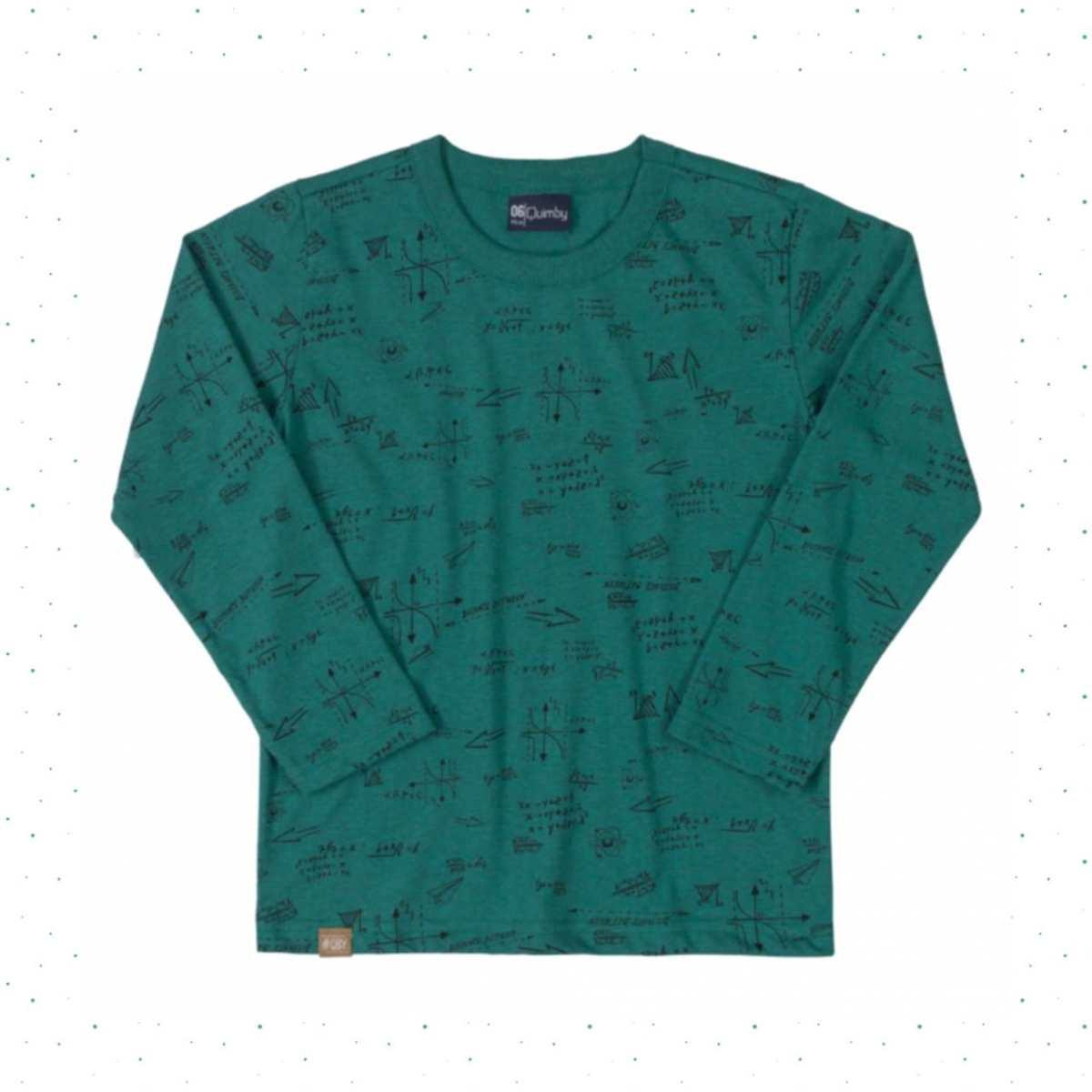 Camiseta Manga Longa Infantil Menino Quimby - Verde