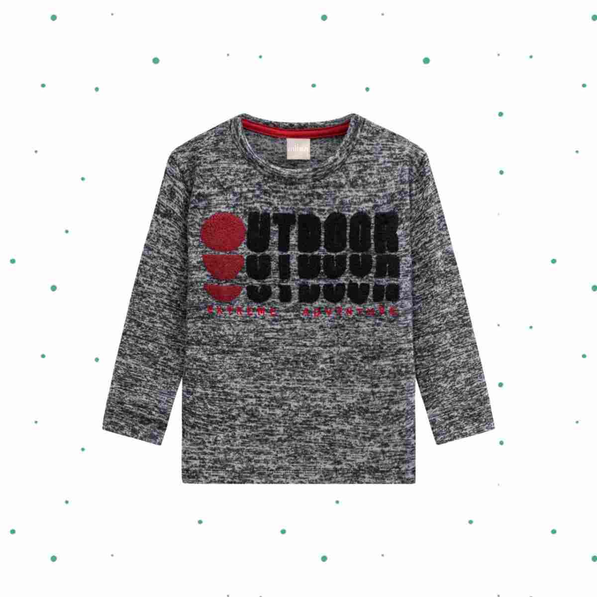 Camiseta Manga Longa Menino Milon em Tricot Vanizada