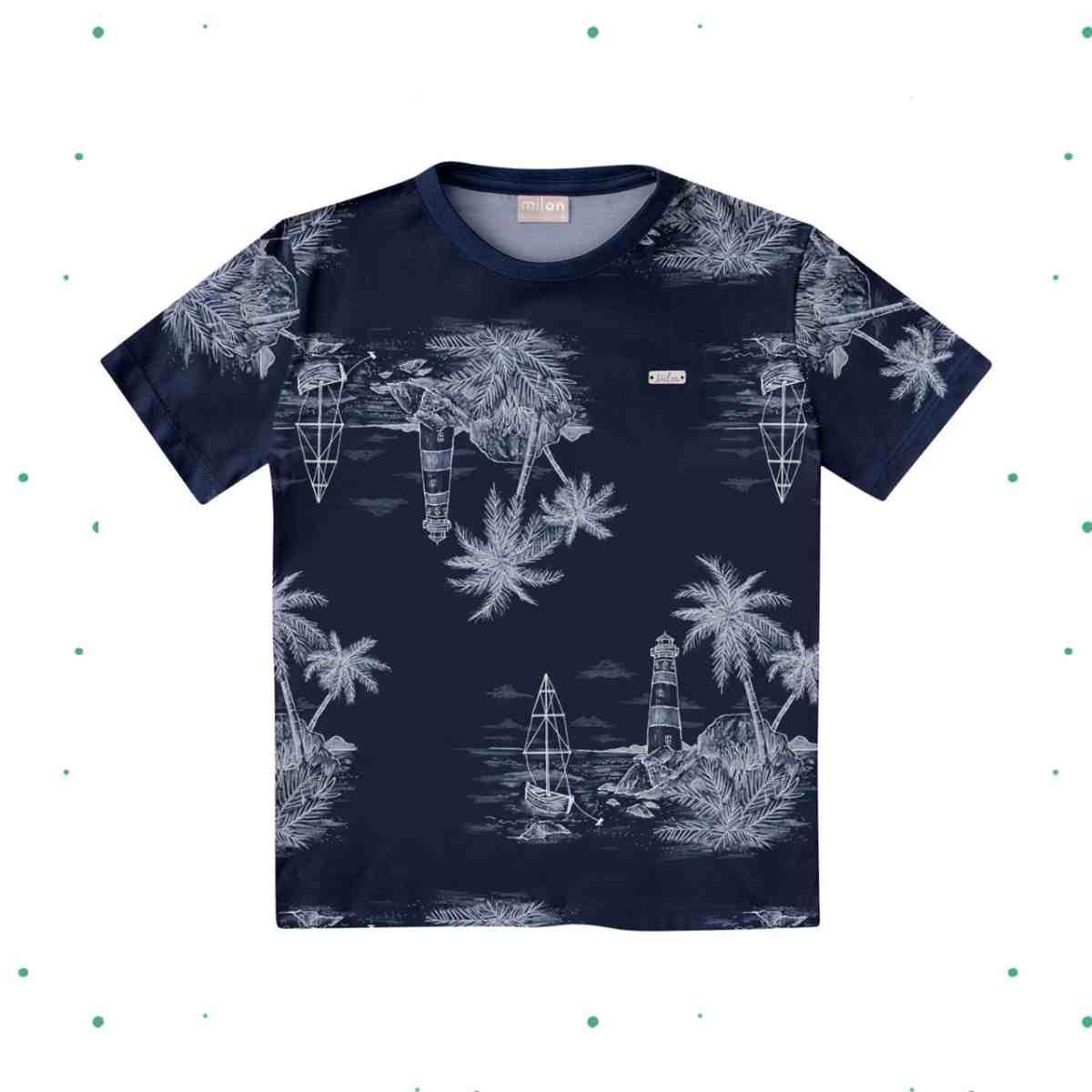 Camiseta Meino Milon em Algodão Estampada