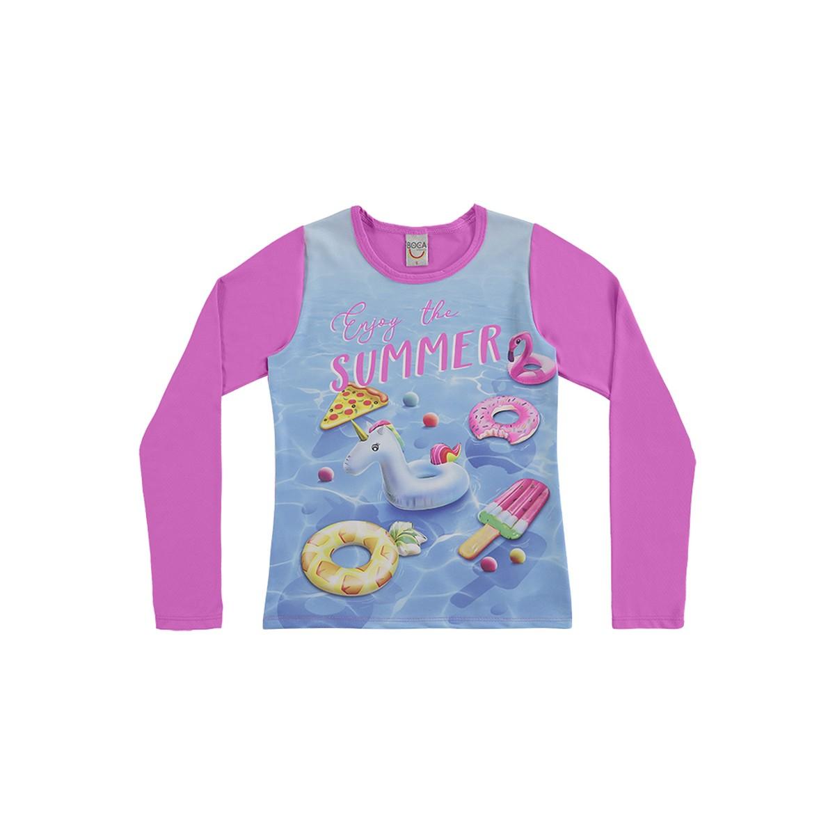 Camiseta Menina com Proteção UV