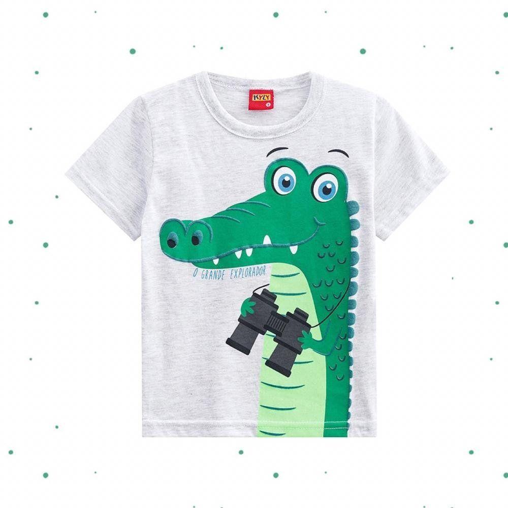 Camiseta Menino Kyly em 100% Algodão Estampada
