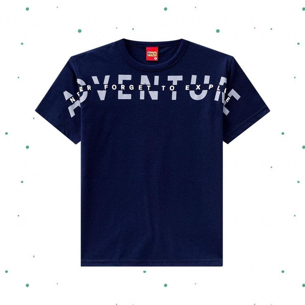 Camiseta Menino Kyly em Algodão com Estampa Aventura