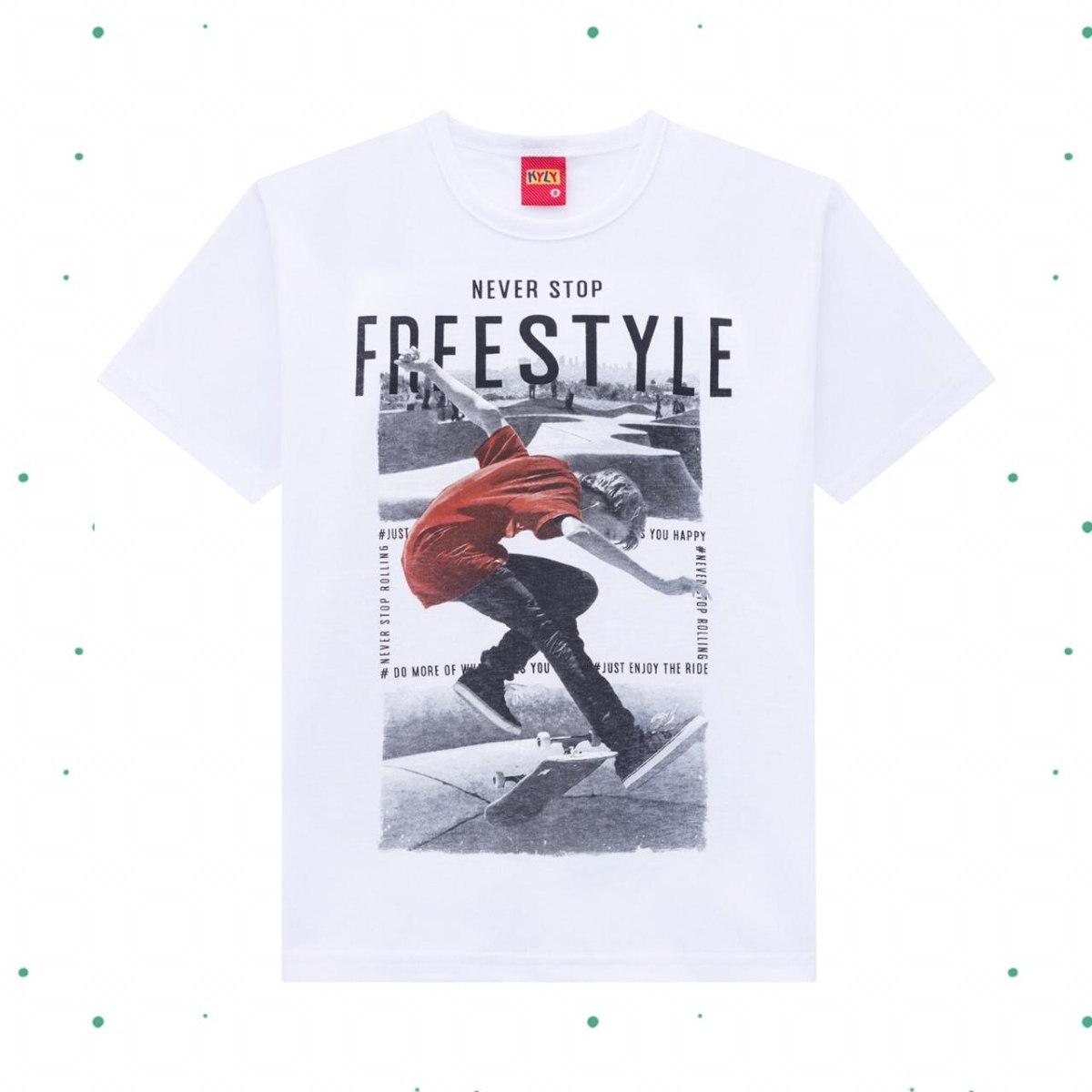 Camiseta Menino Kyly em Algodão cor Branca