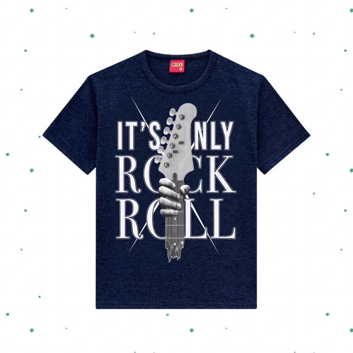 Camiseta Menino Kyly em Algodão cor Marinho