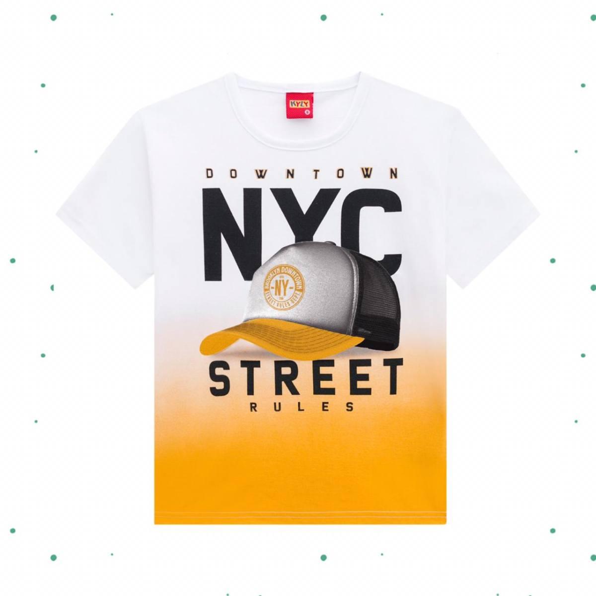 Camiseta Menino Kyly em Algodão Estampada