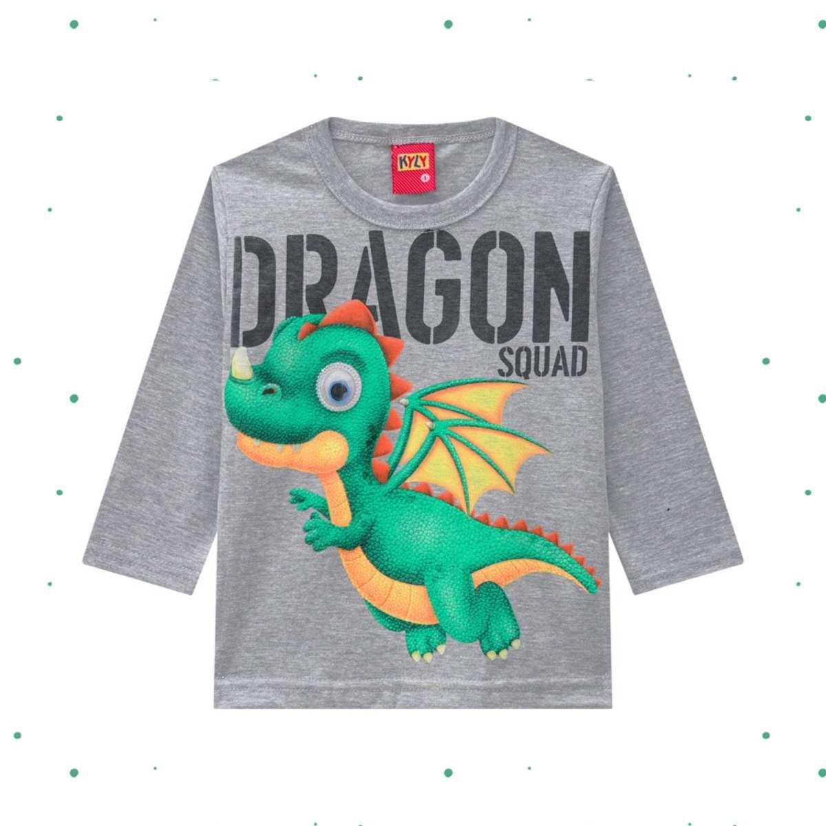 Camiseta Menino Kyly em Algodão Estampada cor Mescla