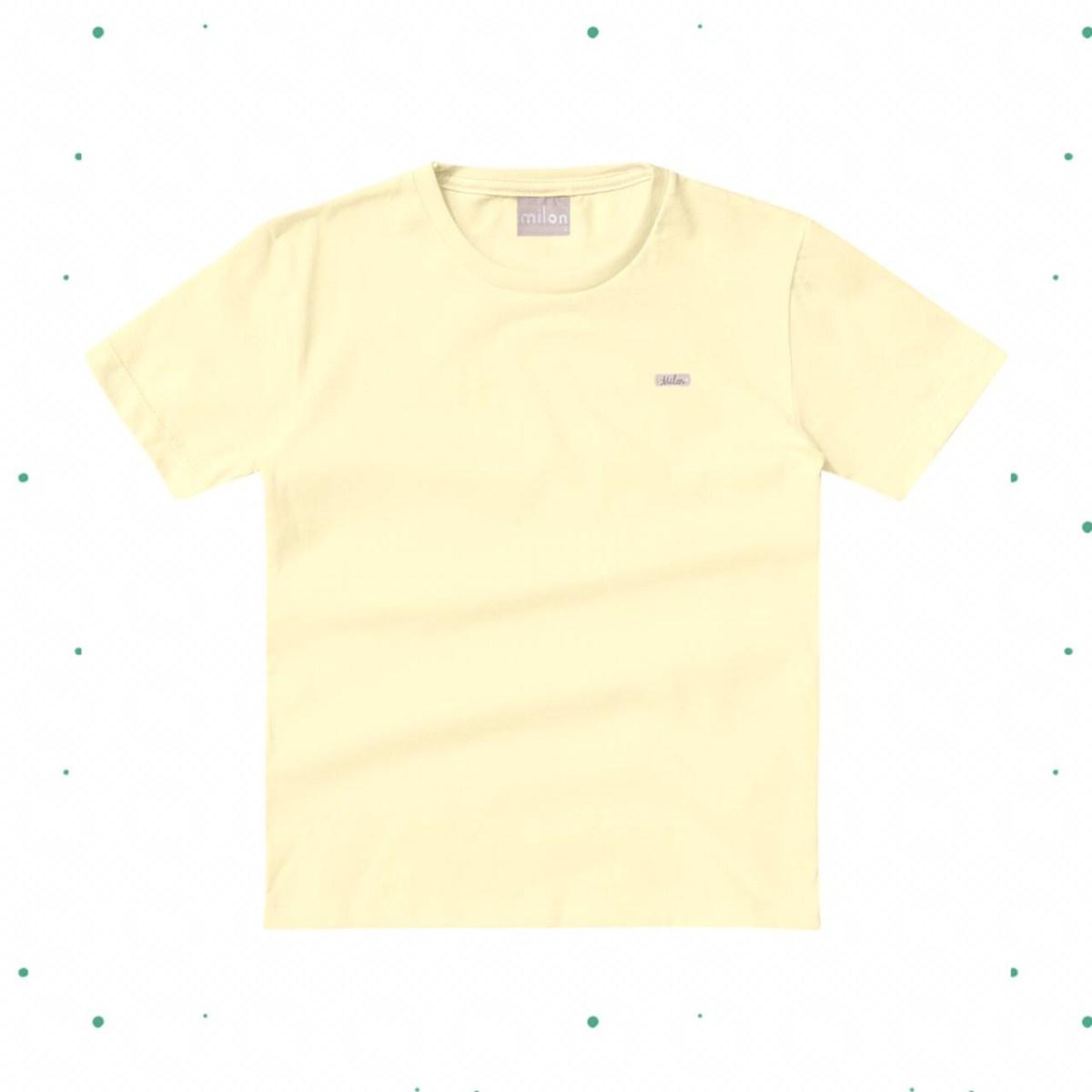 Camiseta Menino Milon em Algodão Amarela