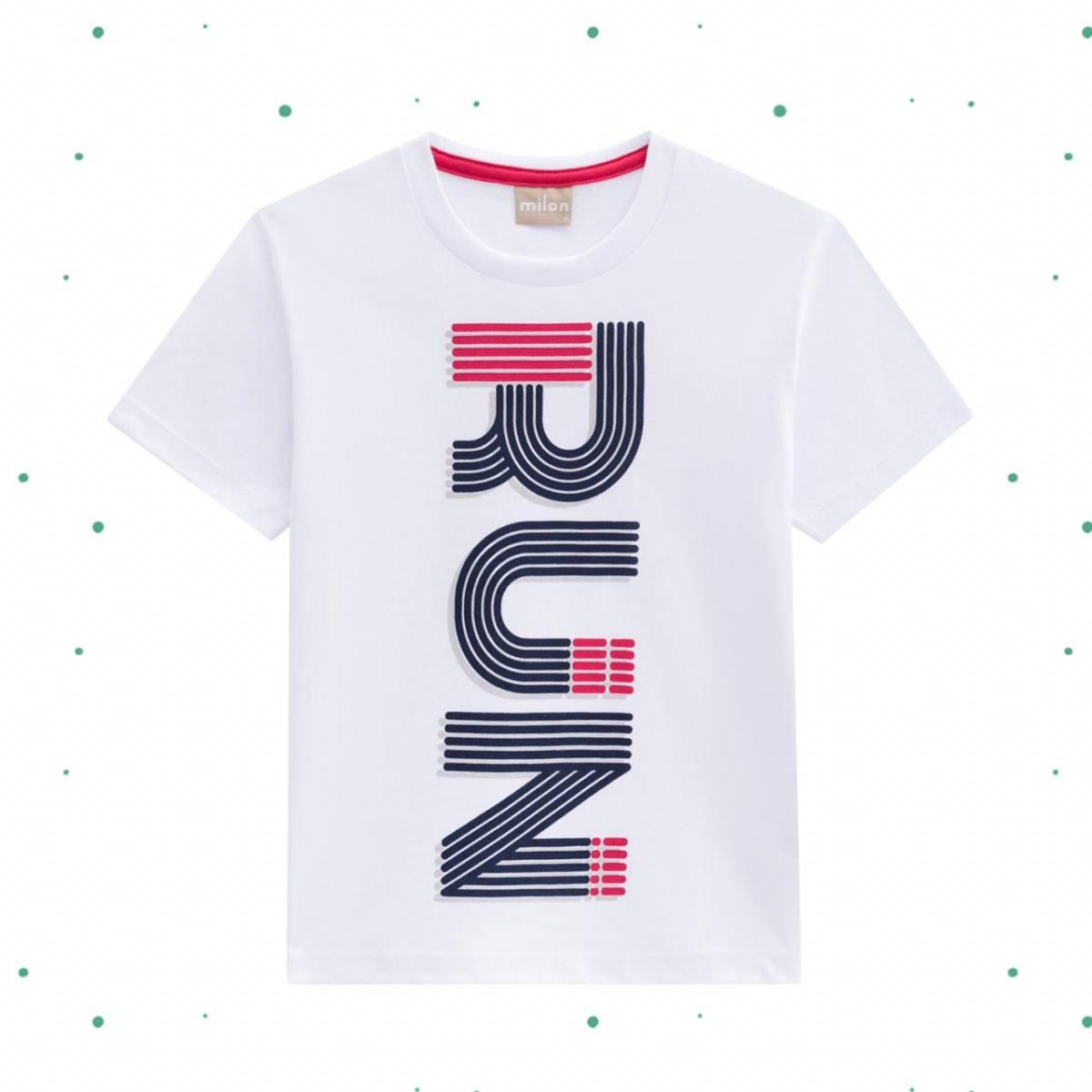 Camiseta Menino Milon em Algodão Estampada