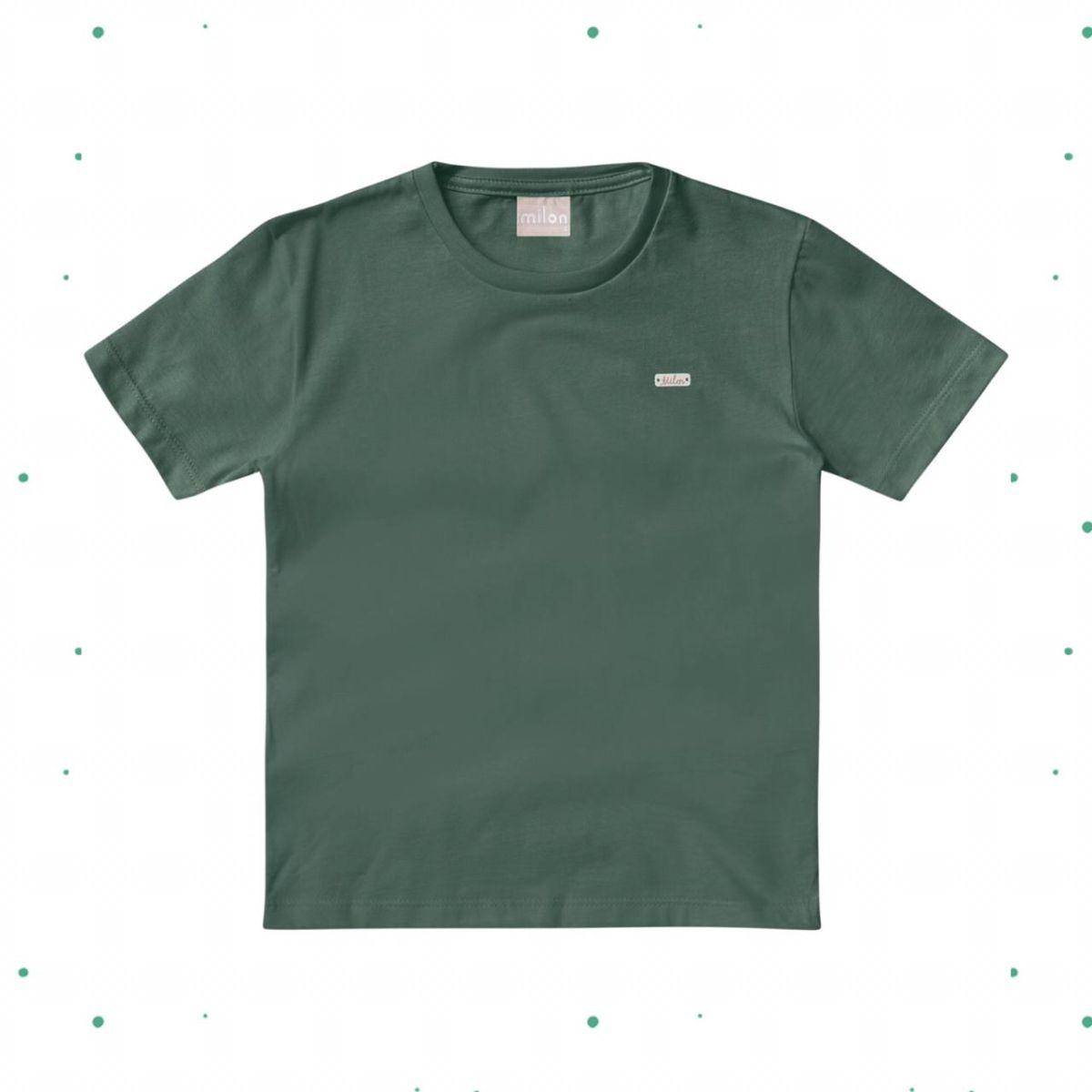 Camiseta Menino Milon em Algodão Verde