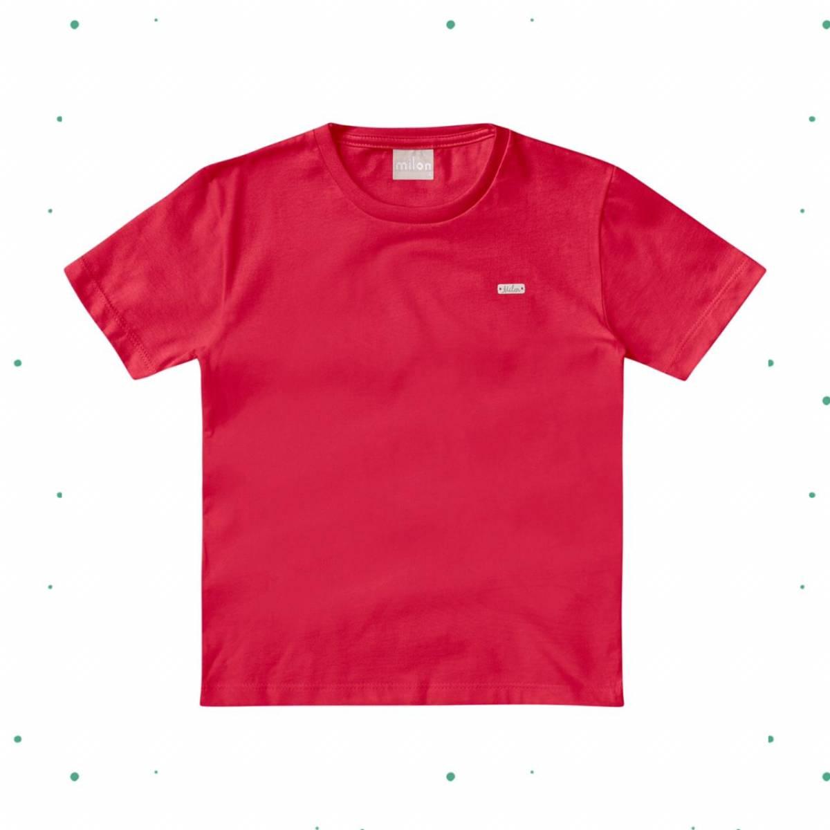 Camiseta Menino Milon em Algodão Vermelha