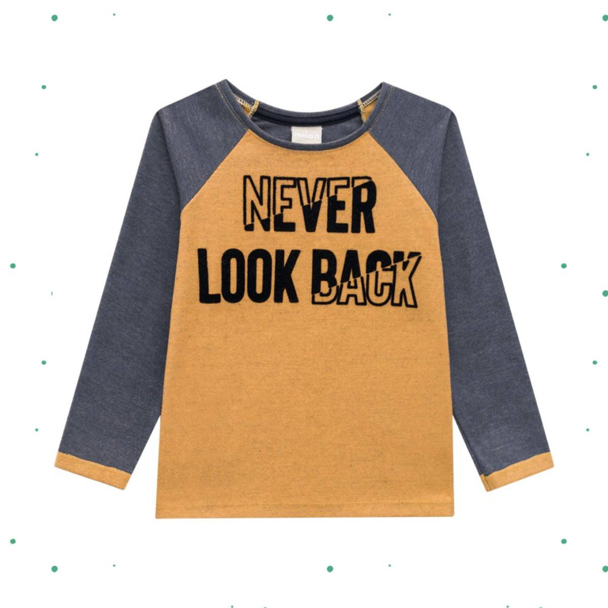 Camiseta Menino Milon  em Meia Malha Vanizada Amarela