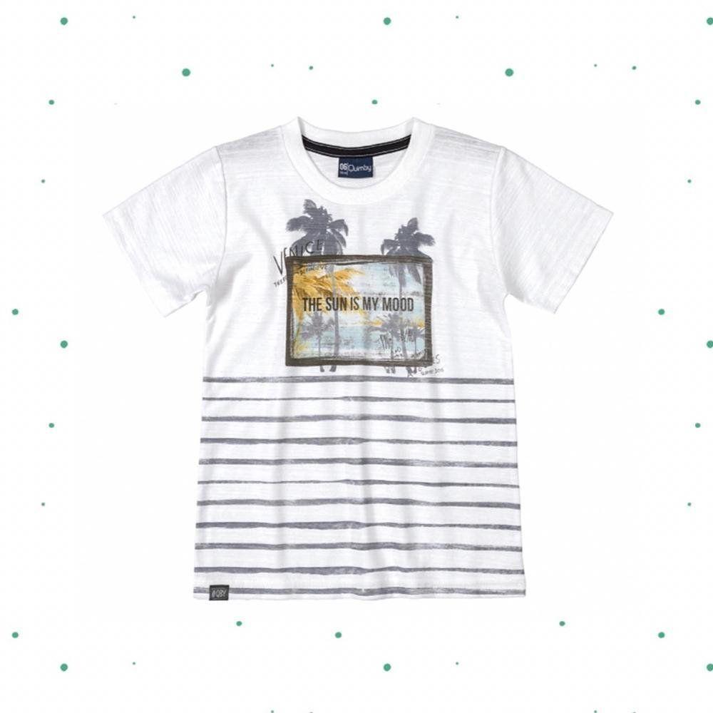 Camiseta Menino Quimby em Malha Flamê