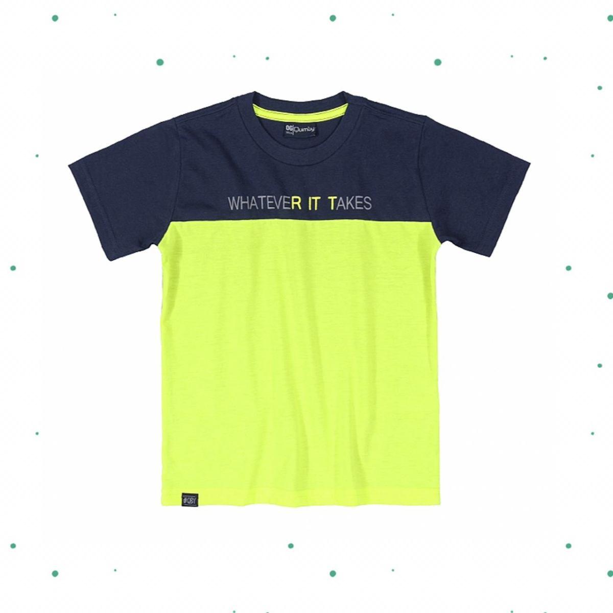 Camiseta Menino Quimby Estampada em Algodão