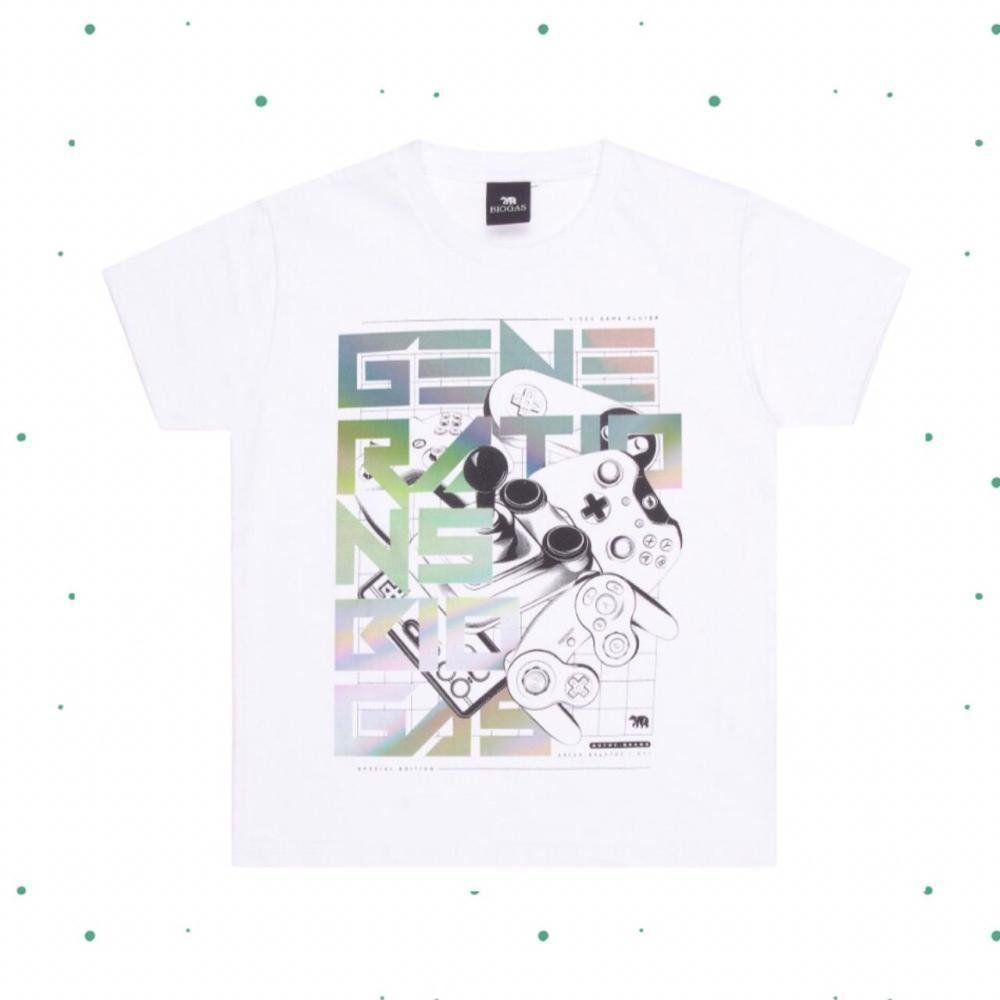Camiseta Menino Tholokko em Algodão cor Branca